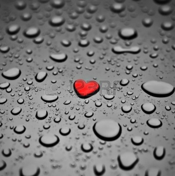 4333278-red-heart-as-a-rain-drop-on-the-grey-background